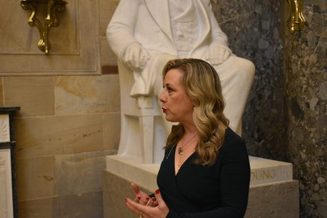 Representative Kendra Horn (D-OK) discusses the bill she proposed to change an Oklahoma City post office's name to honor Clara Luper, who was a prominent Civil Rights activist that led the first sit-in protests in Oklahoma. She believes this will help more Oklahomans learn about Luper's important role in local and national history.  Conner Caughlin / Gaylord News