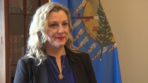 Oklahoma Rep. Kendra Horn in her Capitol Hill office.