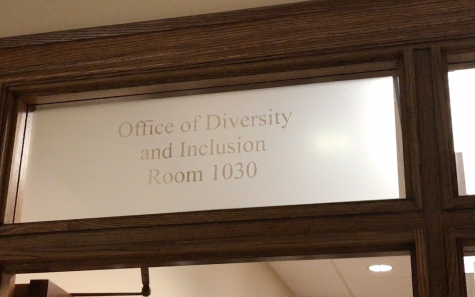 The sign above the front door of Price Business College's Office of Diversity and Inclusion, located on the first floor of Price in room 1030.