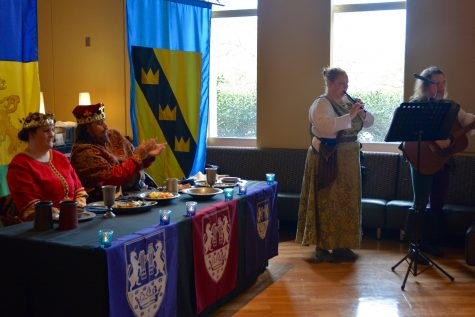 Medieval Fair cast members perform as a king, queen and minstrels. The fair will run March 31 to April 2 after months of planning.