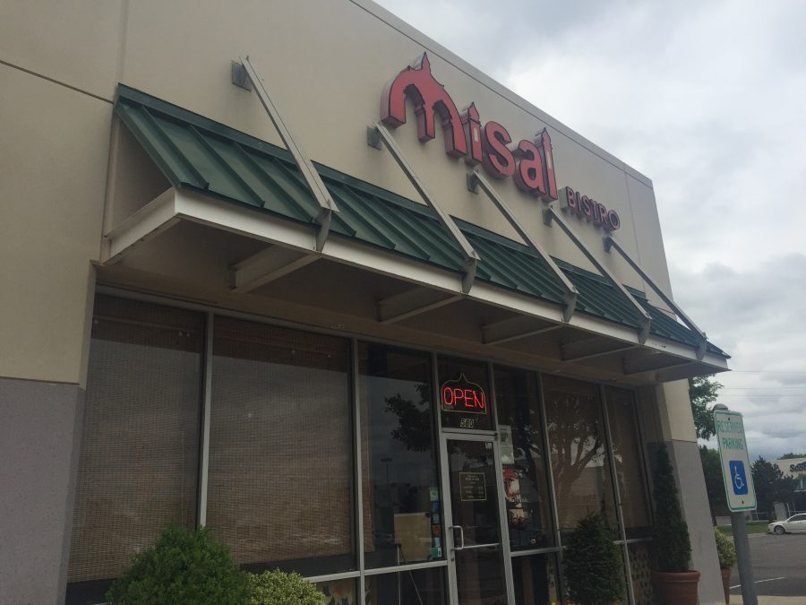 Misal Bistro, located at 580 Ed Noble Parkway. The restaurant has suffered a serious customer loss since construction began on surrounding roads last year.