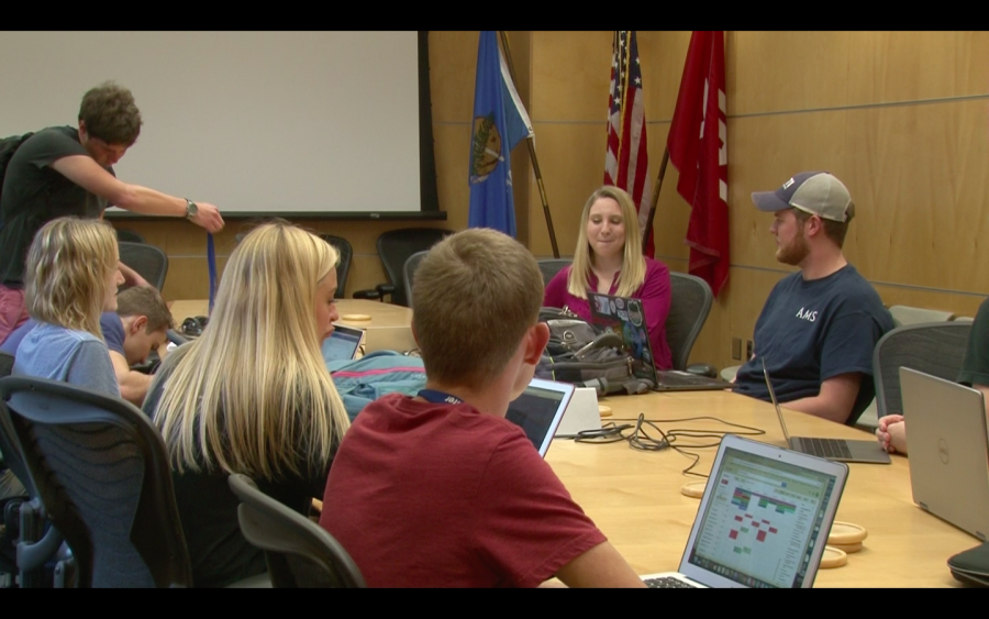 Members of SCAN held their monthly officer meeting Tuesday at the National Weather Center in Norman to discuss money raised for hurricane relief days before the donation's deadline.