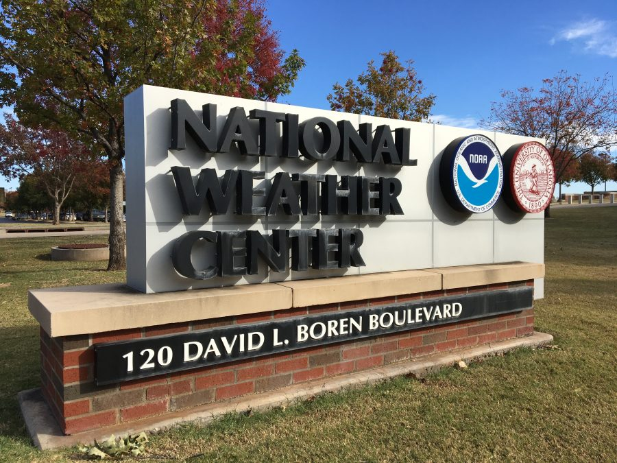 The National Weather Center is located on David L. Boren Boulevard and includes an auditorium named after the President.