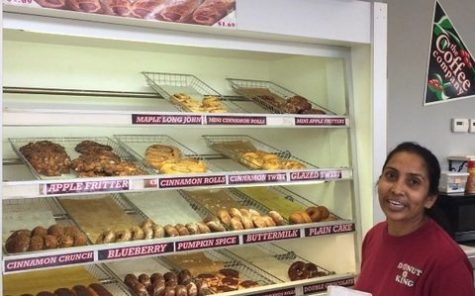 Jasi Patel prepares to serve a customer at Donut King Friday, Nov. 3. Jasi and her sister-in-law have co-owned Donut King since 1993.