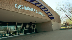 front of eisenhower elementary school