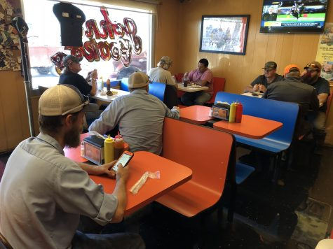 Even at 3 o'clock on Monday Nov. 5, John and Cook's Real Pit Bar-B-Que in Lawton, Oklahoma, has faithful customers waiting to eat the locally-owned and made barbecue.