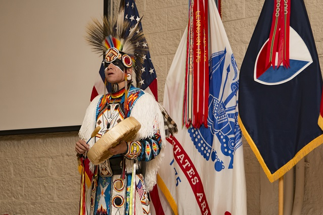 Ronald+Preston+from+the+San+Carlos+Apache+Nation+addresses+the+audience+to+a+Native+American+Indian+Heritage+Month+Observance+at+Rock+Island+Arsenal%2C+Ill.%2C+Nov.+21%2C+2016.+The+event+also+featured+a+presentation+by+retired+Maj.+Jo+Ann+Schedler%2C+a+member+of+the+Mohican+Nation.+%28Photo+by+Staff+Sgt.+Ian+M.+Kummer%2C+First+Army+Public+Affairs%29