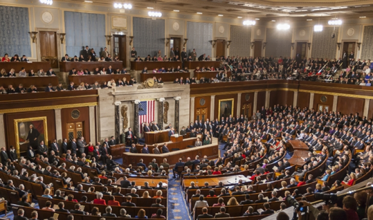 President Joe Biden used his first address before a joint session of Congress Wednesday to tout an ambitious plan to reshape the American economy. (Photo courtesy U.S. Congress)