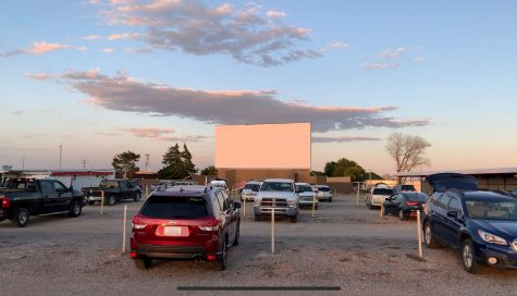 "Customers wait for ""Back to the Future"" to start after the sun sets at the Chief Drive-In in Ninnekah. Gov. Stitt expanded non-essential business closures to all 77 Oklahoma counties, which will affect drive-in theatres."