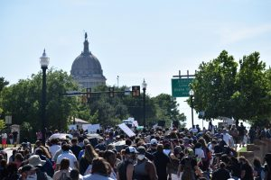 Protest march in Oklahoma City on May 31, 2020.