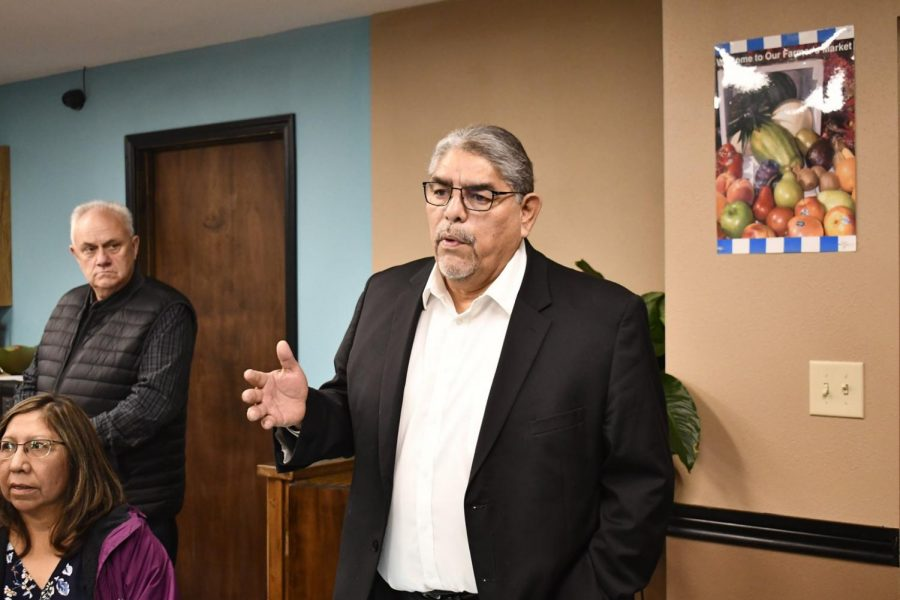 Chairman Komalty (pictured, center) sought injunction over concern about COVID-19 exposure. Photo courtesy of the Kiowa Tribe.