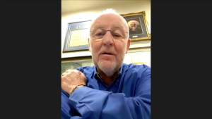 Joe Allbaugh, former campaign manager and FEMA director under George W. Bush, said political disagreement has become deeply personal, to a point he has not seen in his lifetime. This image is courtesy of a Zoom interview with Gaylord News correspondent Emma Sears.