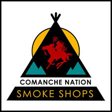 The Comanche Nation Smoke Shop logo.  Gaylord News photo courtesy of the Comanche Nation Smoke Shop Facebook page.
