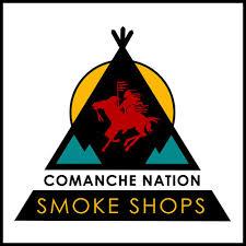 The Comanche Nation Smoke Shop logo.  Gaylord News photo courtesy of the Comanche Nation Smoke Shop Facebook page.