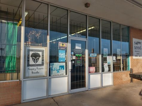 The entrance to Nappy Roots Books, located at 3705 Springlake Dr. in Oklahoma City. (Gaylord News/Nancy Spears)
