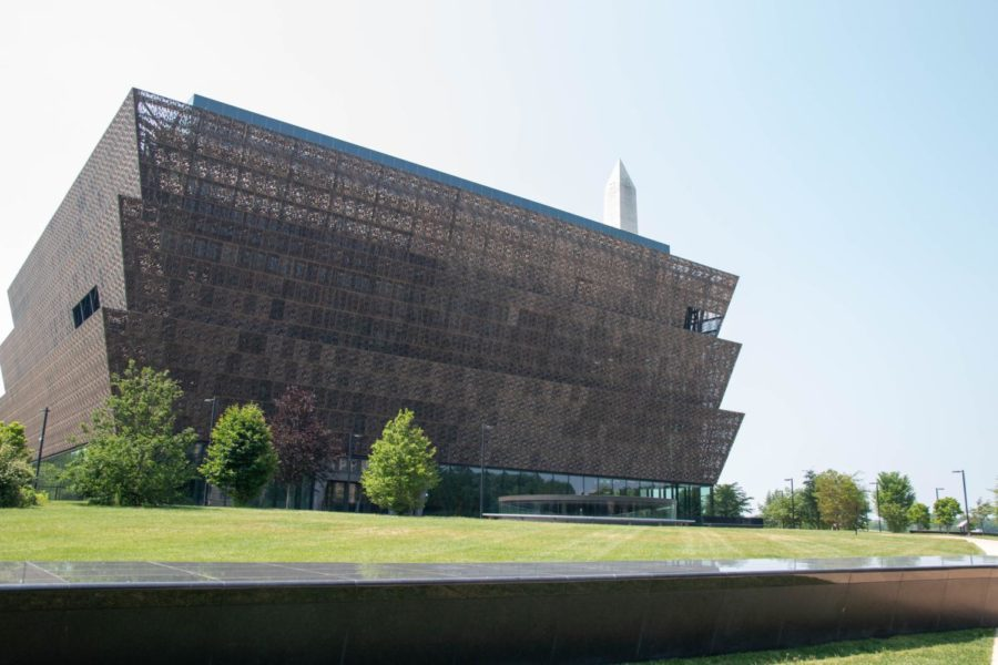 View of the National African-American Museum of History and Culture from 14th street on May 26. The museum is located to the northeast of the Washington Monument. PHOTO BY: Kolby Terrell