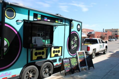 The BeetBox Truck parked outside of Vanessa House Brewery on March 26, 2021. Photo by Zaria Oates.