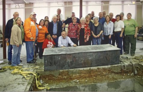 Members of the First Lutheran Church of Oklahoma City attended the opening of the Century Chest on April 22, 2013, after 100 years of it being buried in the church's basement. Courtesy/Oklahoma Historical Society