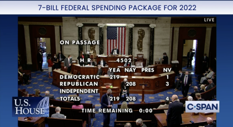 The House passes a seven-bill package along party lines. (Courtesy: C-SPAN)