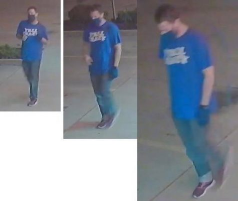 Shown in these stills taken from surveillance footage is the primary suspect in the vandalism incidents at Tasty Thai in Del City.