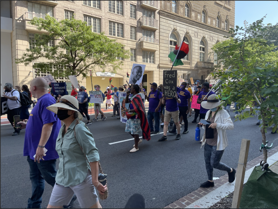 Thousands+of+activists+around+the+country+came+together+in-person+and+virtually+to+advocate+for+equal+voting+access+Saturday+on+the+58th+anniversary+of+the+March+on+Washington.+%28Zaria+Oates%2FGaylord+News%29