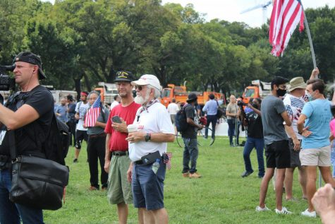 Veterans attending Justice for J6 rally at the U.S. Capitol on Saturday, Sept. 18. (Zaria Oates/ Gaylord News)