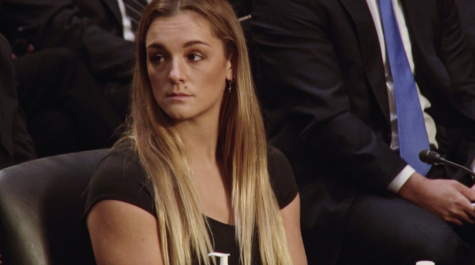 Maggie Nichols, an OU alumna, made statements at a judiciary committee hearing on Wednesday on the misconduct of former USA gymnastics doctor Larry Nassar and the agencies enabling his actions. (Gaylord News/ Zaria Oates)