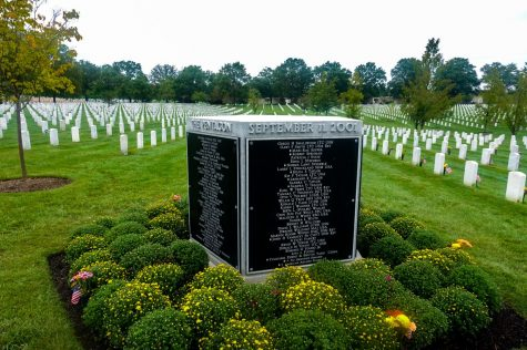 The Pentagon Group Burial Marker in section at Arlington National Cemetery. The marker has the name of all 189 victims of the Pentagon 9/11 attack. (PHOTO: Robert Viamontes/Gaylord News)