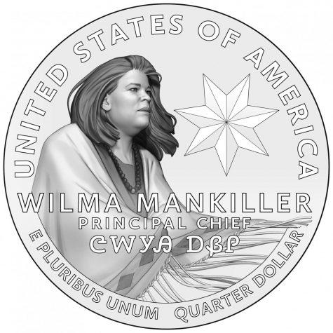 The upcoming Wilma Mankiller quarter design. (U.S. Mint Department)